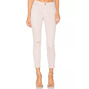 NWOT Mother The Looker Crop Distressed Color Jeans